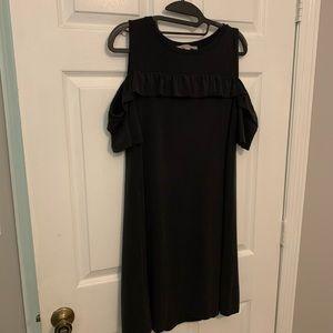 Loft cold shoulder ruffle detail dress